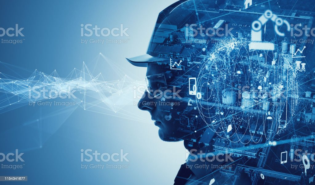 Industry and technology concept. INDUSTRY 4.0 - Royalty-free Abstract Stock Photo