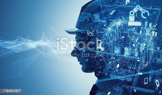 istock Industry and technology concept. INDUSTRY 4.0 1154341677