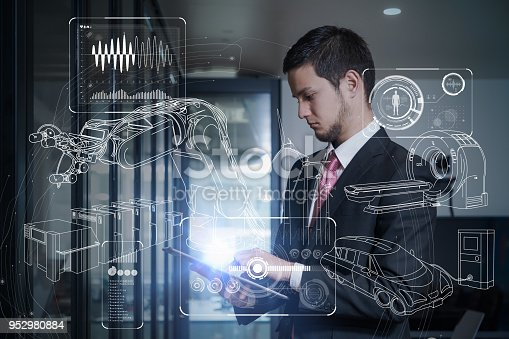 istock Industry and technology concept. 952980884