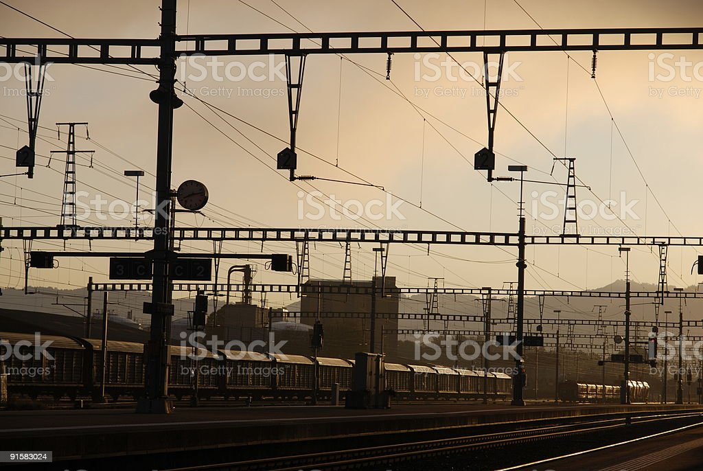 industry area with depot railway royalty-free stock photo