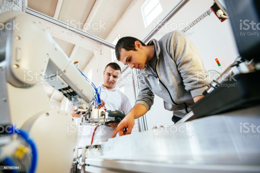 Industry assistance and engineering stock photo
