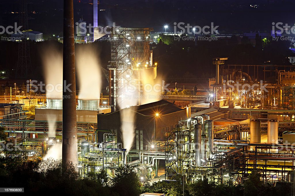 Industry At Night stock photo