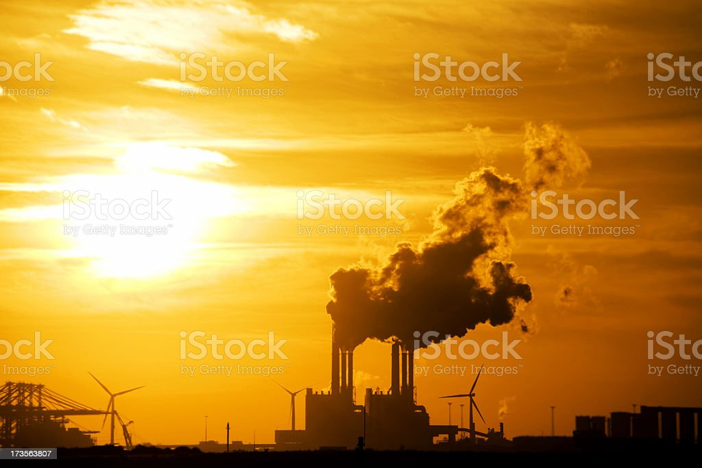Industry at Sunset royalty-free stock photo