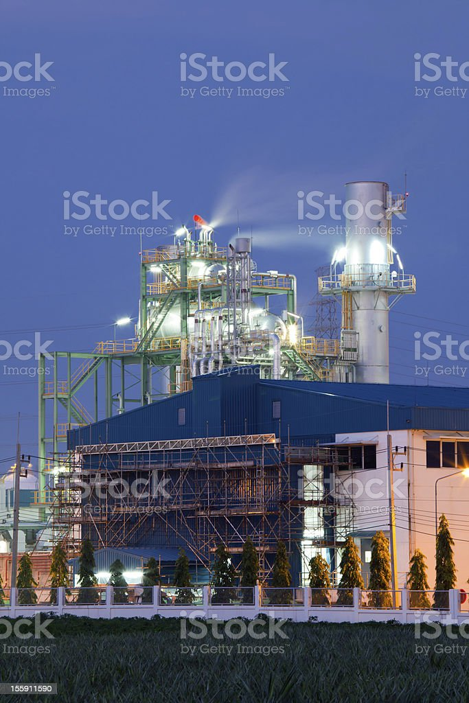 Industry boiler in Oil Refinery Plant royalty-free stock photo