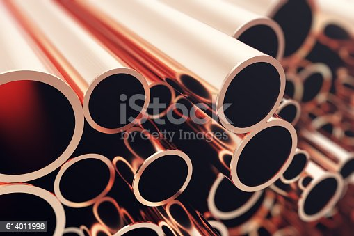 istock Industry business production and heavy metallurgical industrial products, many shiny 614011998