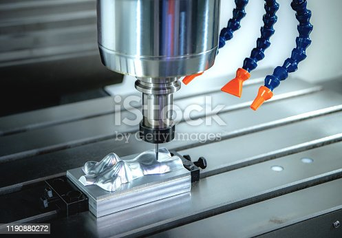 Metal cutting and forming using CNC machines, high precision technology in the machinery industry.