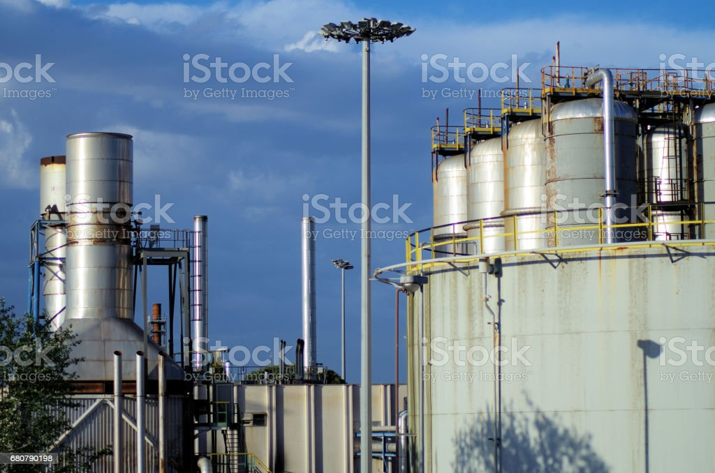 industry comlex view stock photo