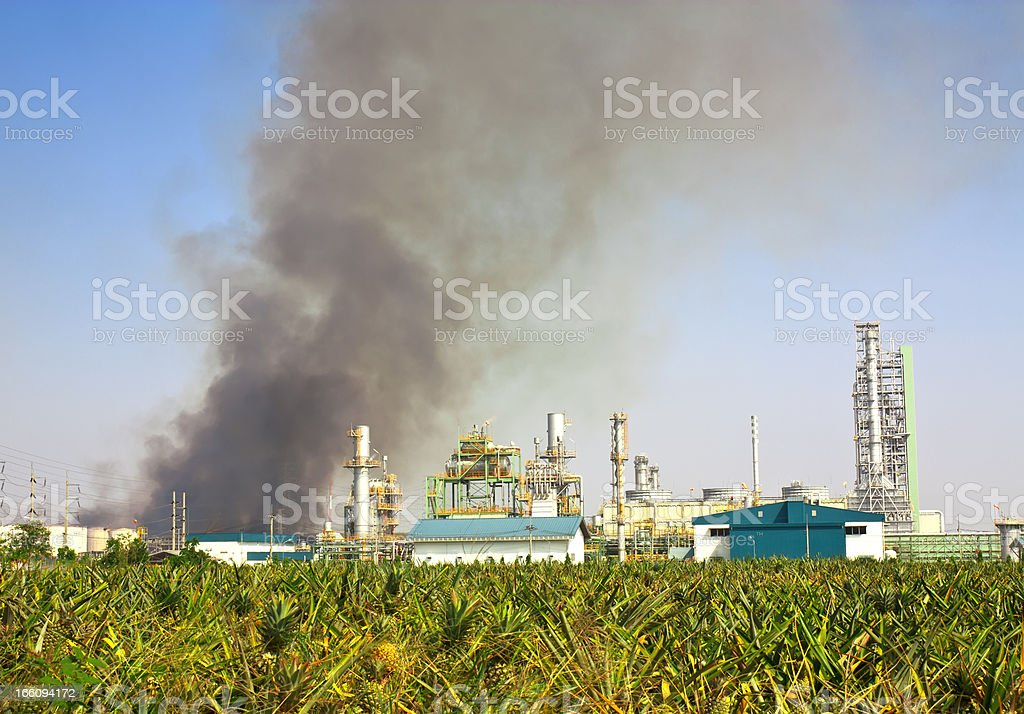Industry conflagration royalty-free stock photo