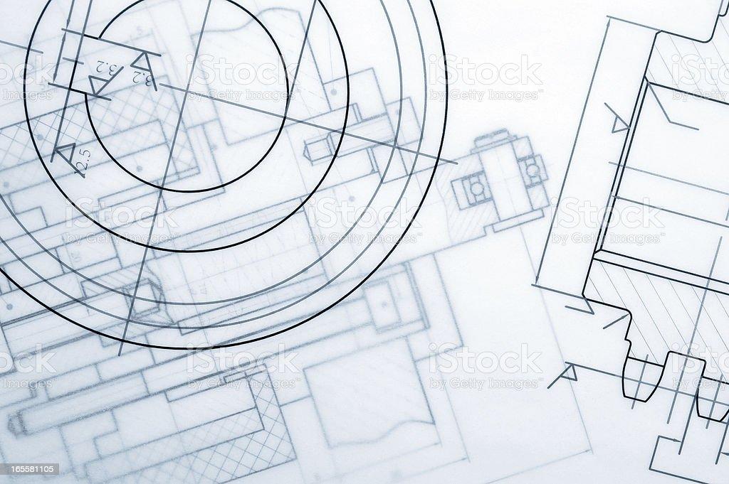 Industry Document Blueprint royalty-free stock photo