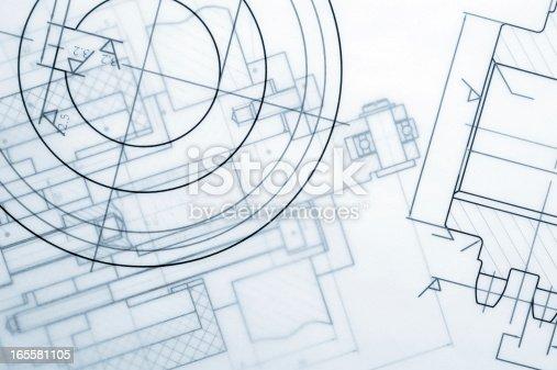 istock Industry Document Blueprint 165581105