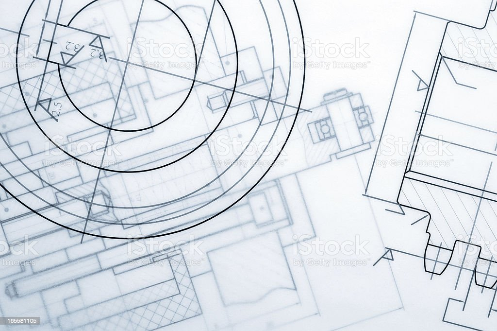 Industry Document Blueprint stock photo