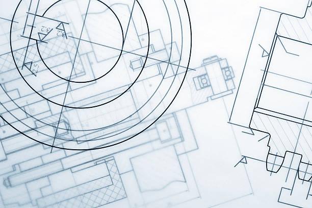 Industry Document Blueprint stock photo