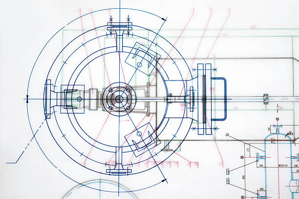 industry document blueprint - diagram stock photos and pictures