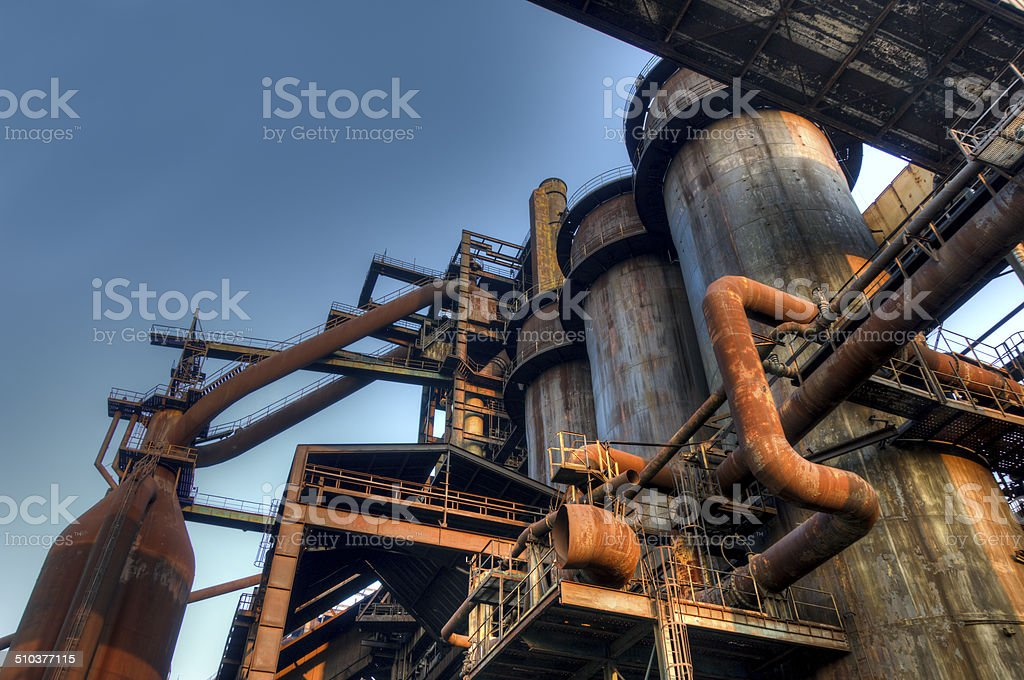Industry for manufacturing of pig-iron, Ostrava, Czech Republic stock photo