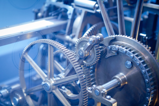 Industry Gear Machine Cog Business Cooperation Teamwork And Time Concept Stock Photo - Download Image Now