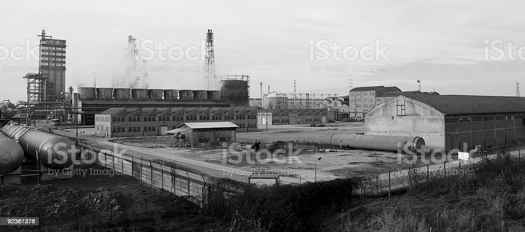 Industry in black and white royalty-free stock photo