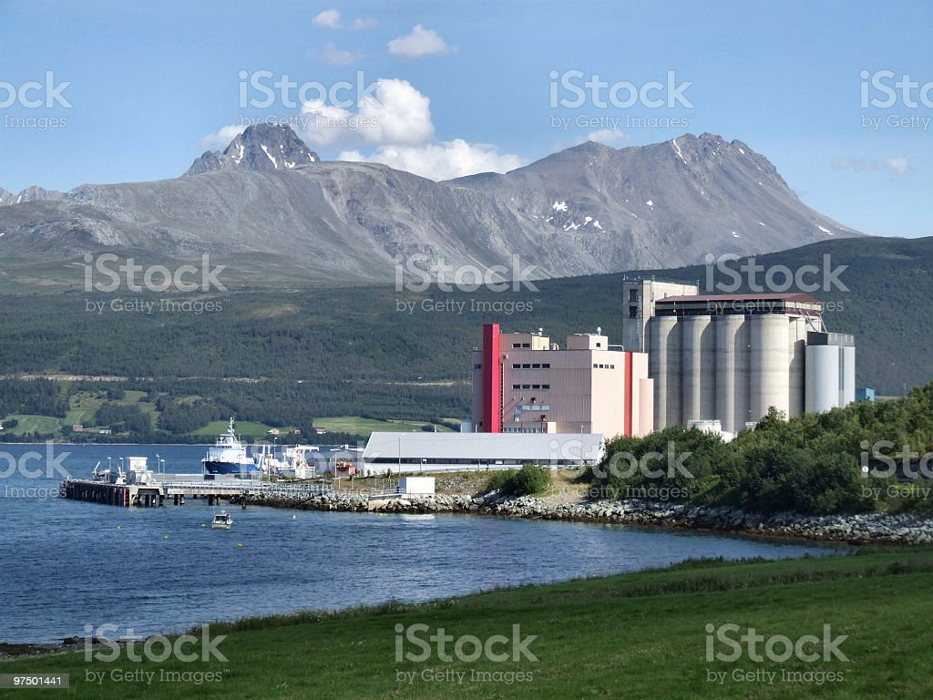 Industry in mountains, Norway royalty-free stock photo