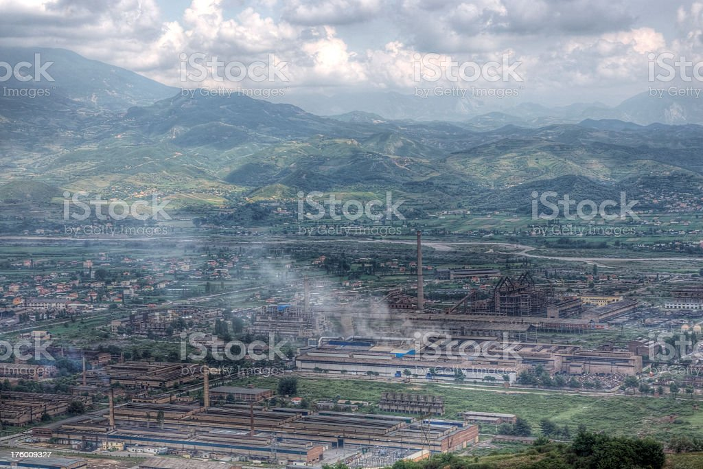 Industry in the Mountains stock photo