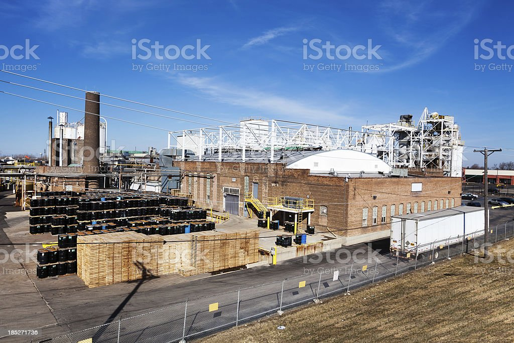 Industry in West Lawn, Chicago royalty-free stock photo
