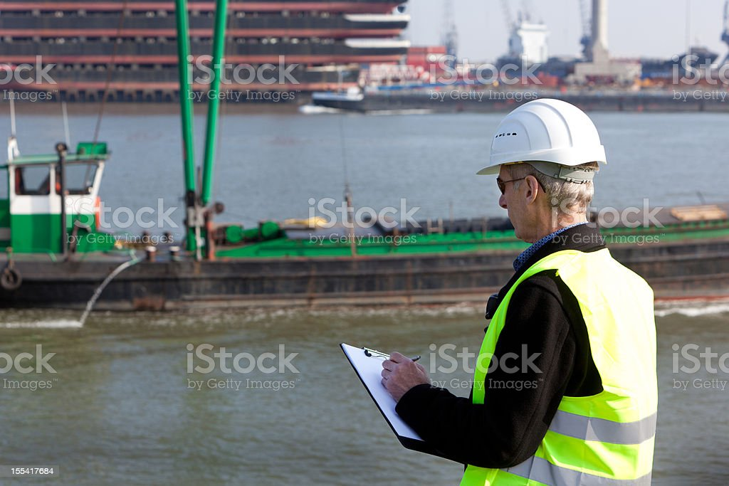 Industry inspector royalty-free stock photo