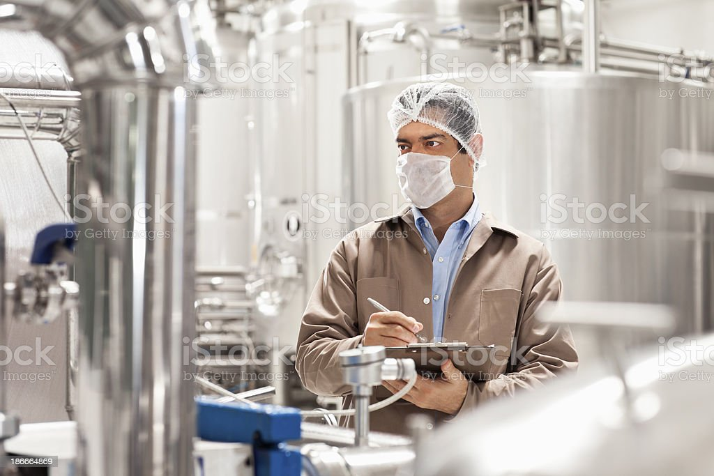 Industry Inspector stock photo