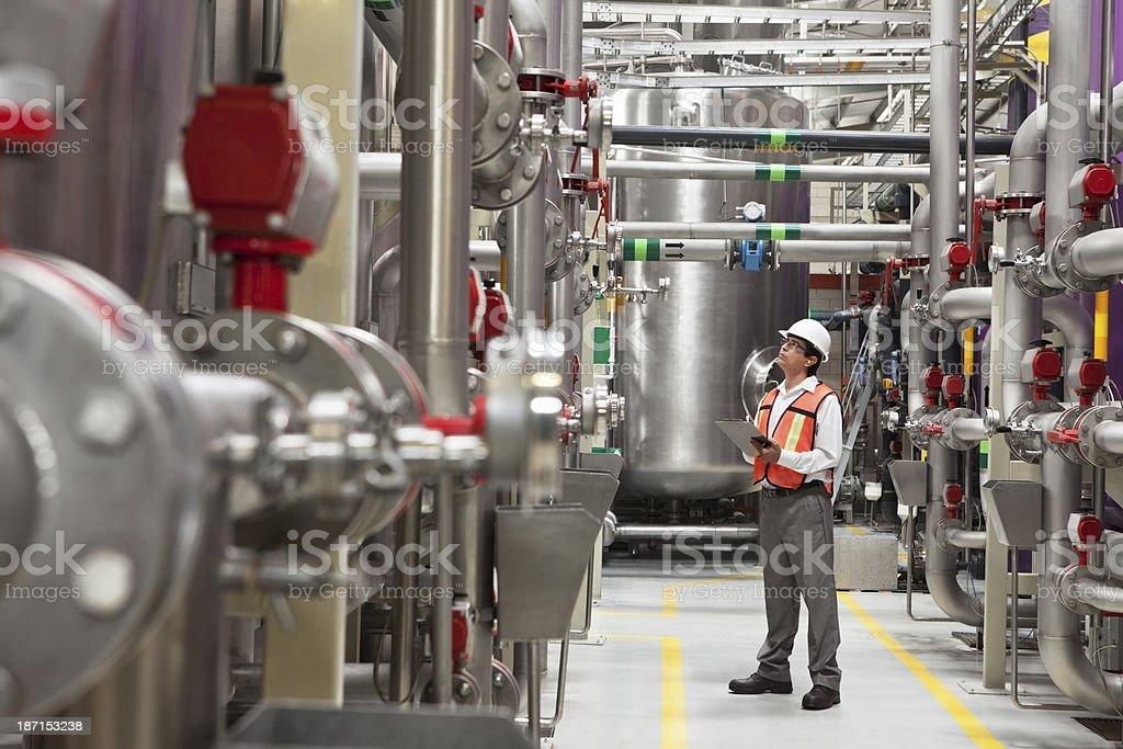 Inspector de la industria - foto de stock