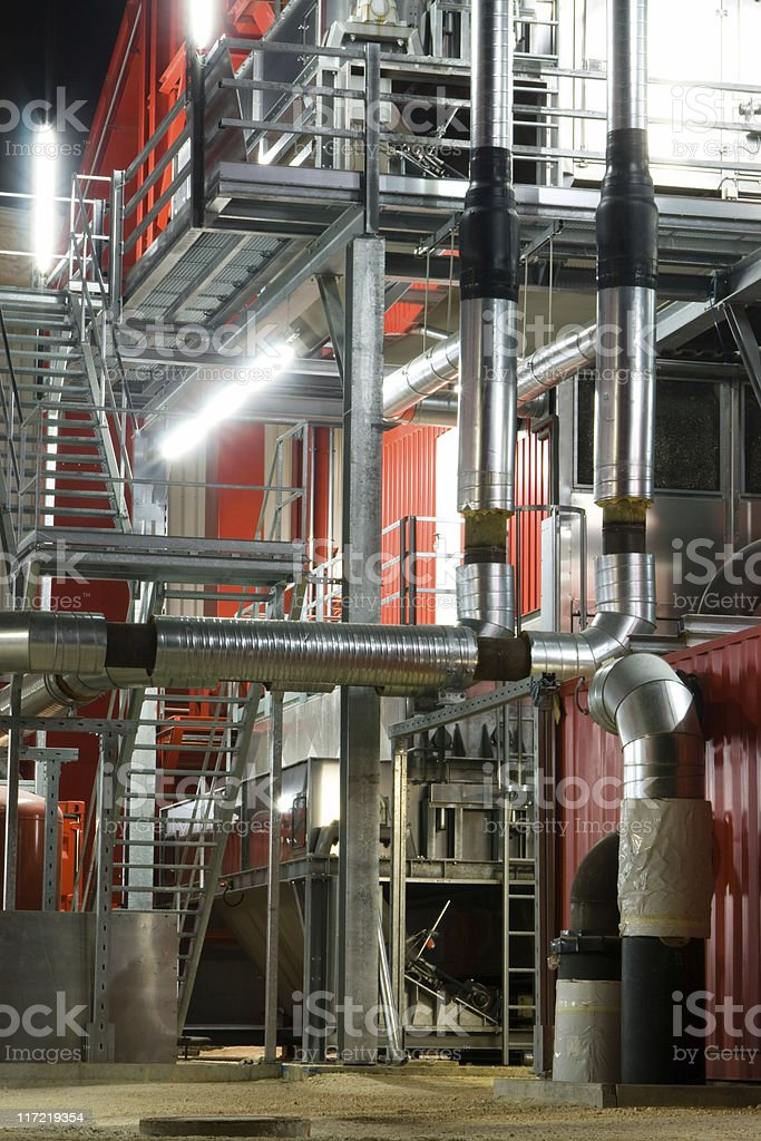 Industry Installations at Night royalty-free stock photo