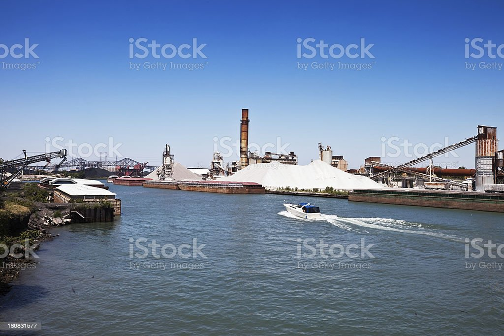 Industry on the Calumet River, Chicago royalty-free stock photo