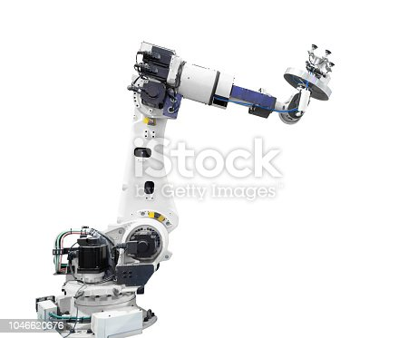 istock Industry robotic arm isolated included clipping path 1046620676