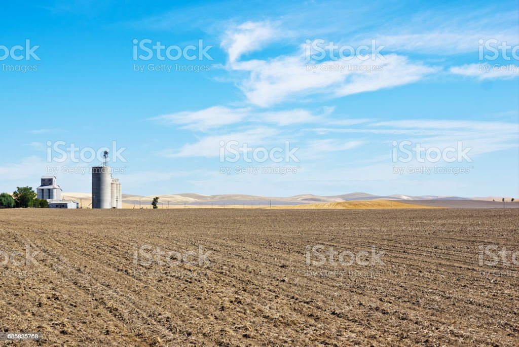 Industry Silos in Rural Area stock photo