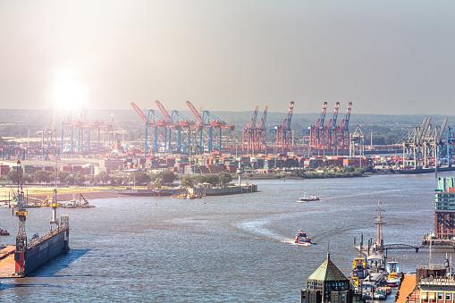 Industry Skyline in Hamburg