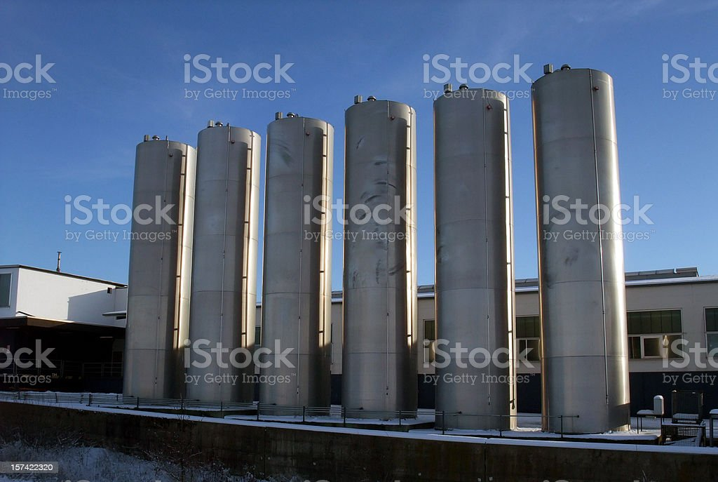 industry stainless steel tanks royalty-free stock photo