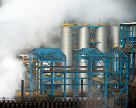 Industry Steaming And Smoking Stock Photo - Download Image Now