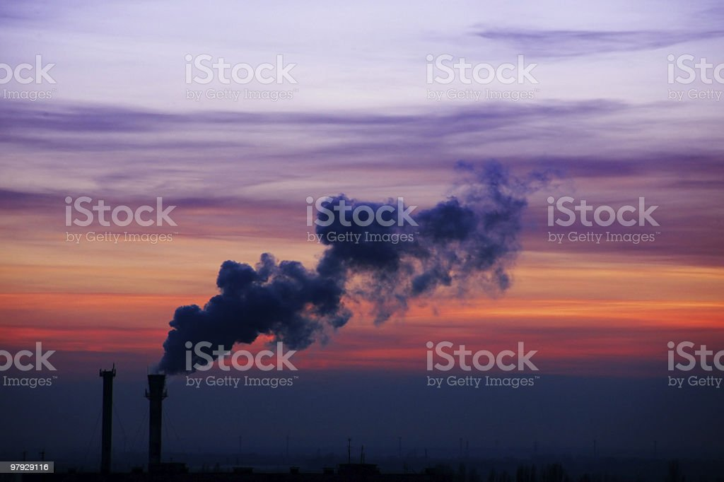 Industry sunset royalty-free stock photo