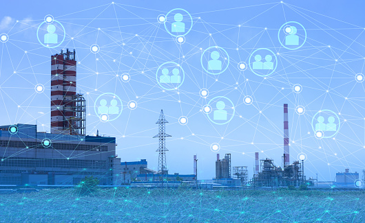 istock 4.0 industry technology to increase productivity and reduce labor. The use of the Internet of things and artificial intelligence in the energy sector 1178819379