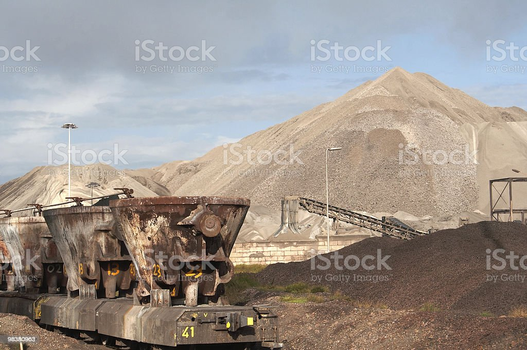 Industry & train royalty-free stock photo