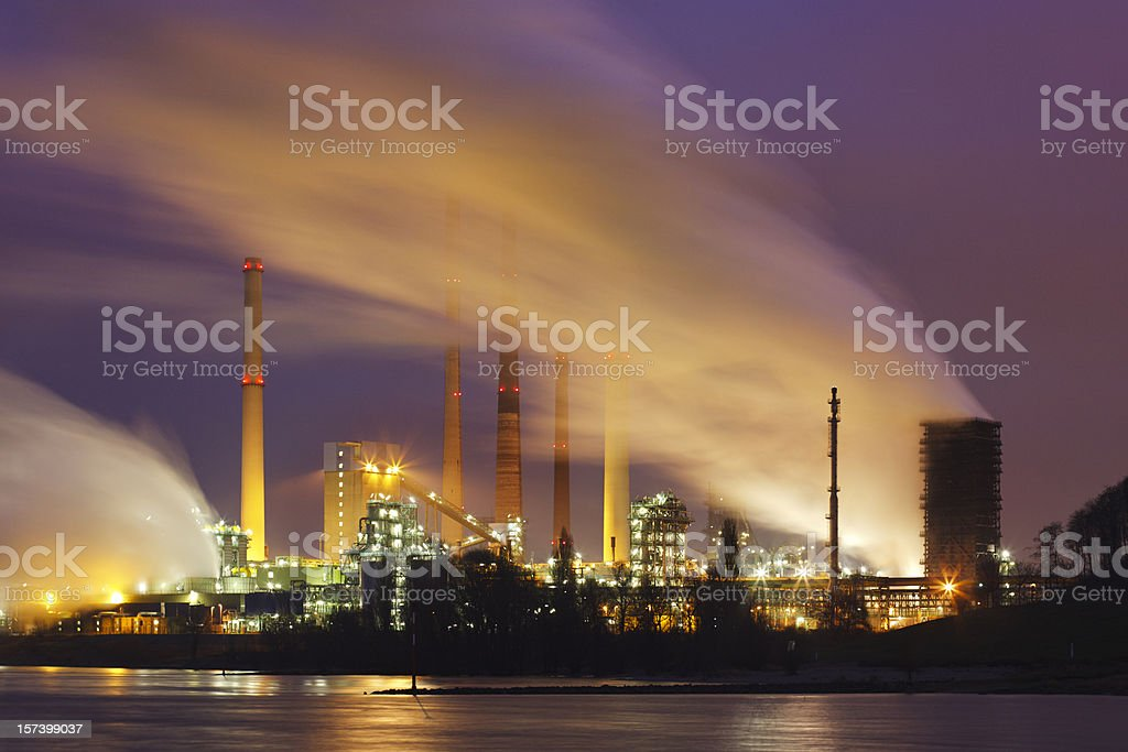 Industry With A Lot Of Steam stock photo