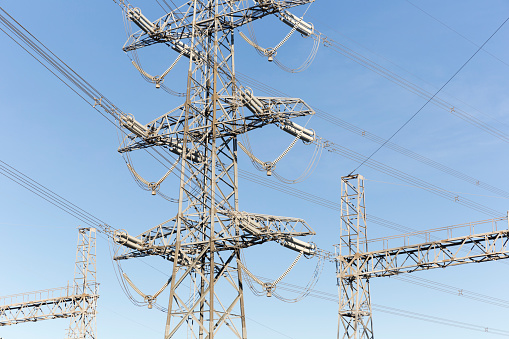 600401714 istock photo Indutrial Electricity Towers 965743642