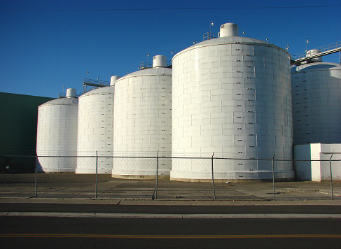 old industrial tanks and silos