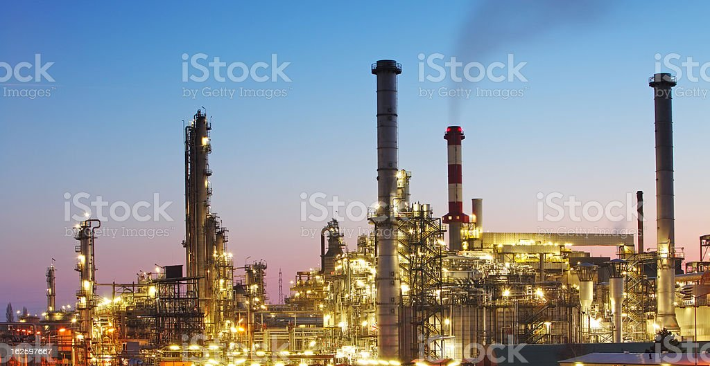 Indutry - Oil and gas factory, Chemical refinery royalty-free stock photo
