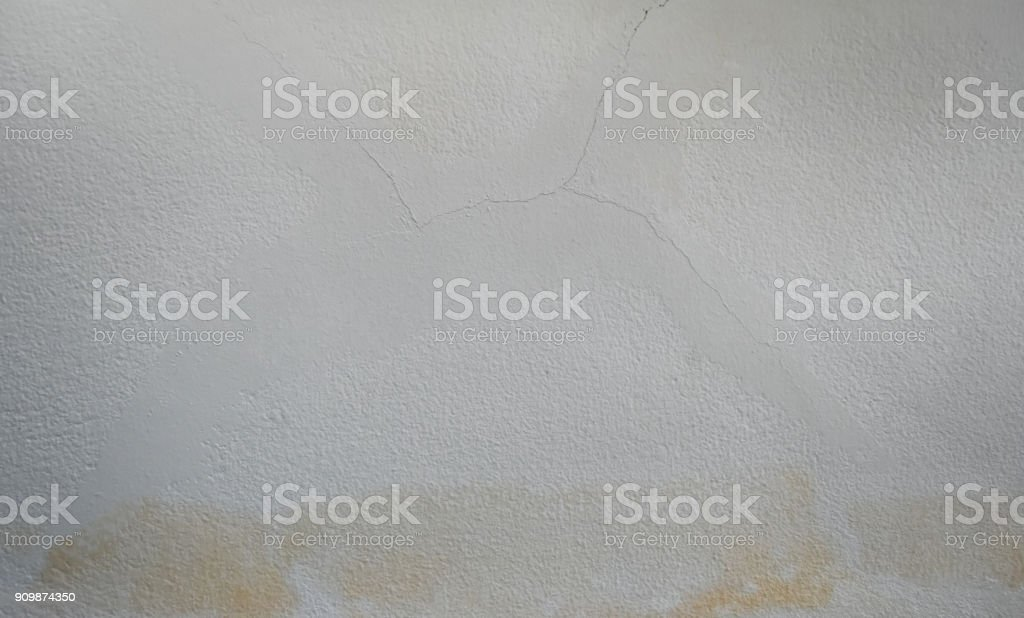 Ineffective repair ,Water leaks on the ceiling causing damage, tiles and cement . stock photo