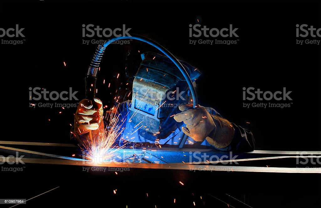 inert-gas-shielded arc welding stock photo