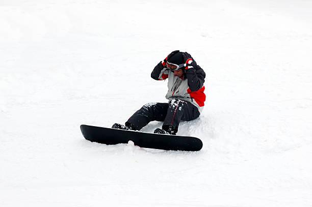 inexperienced skier stock photo