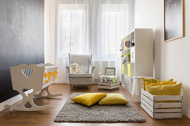 Infant baby room stock photo