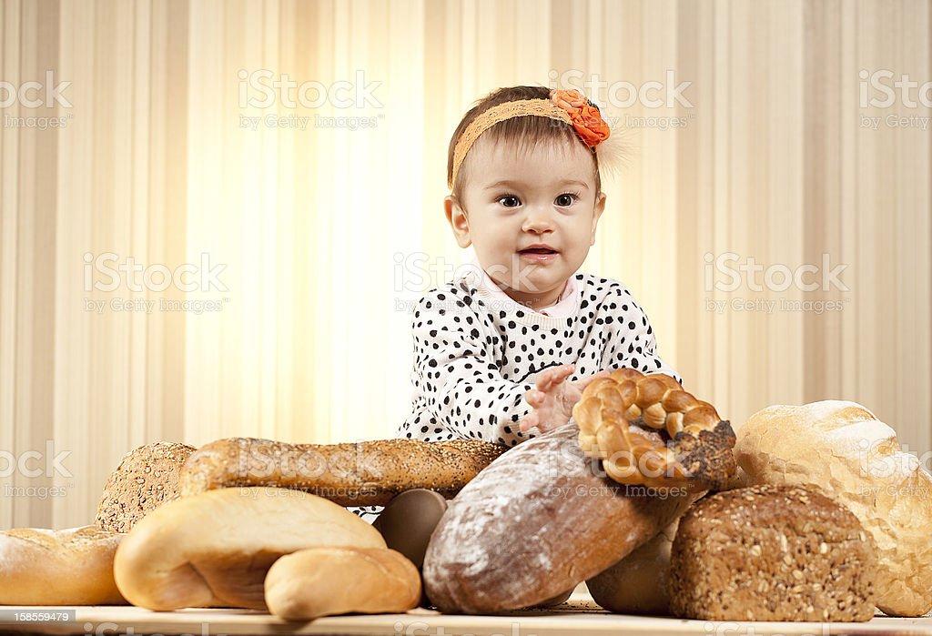 인펜트 식빵 선택 royalty-free 스톡 사진