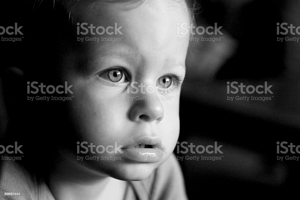 Infant face close-up royalty-free stock photo