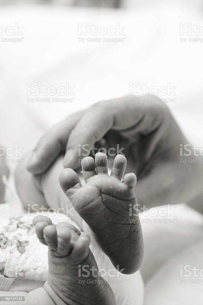 infant feet royalty-free stock photo