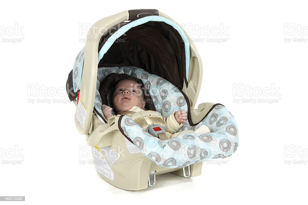 Infant in Car Seat royalty-free stock photo