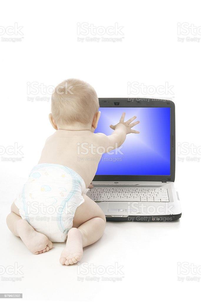 Infant royalty free stockfoto
