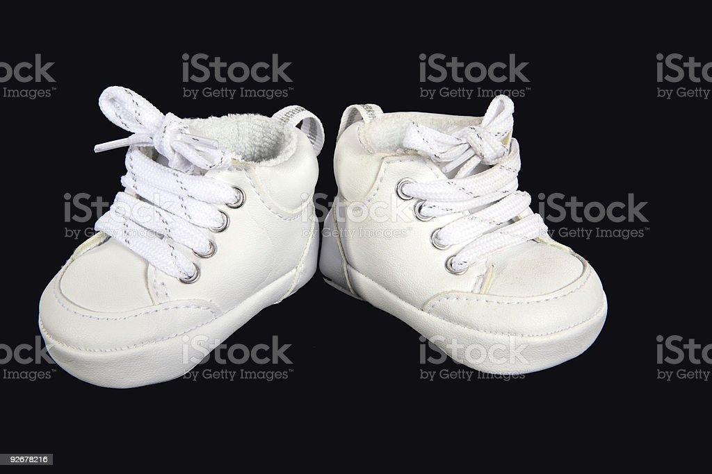 Infant shoes stock photo